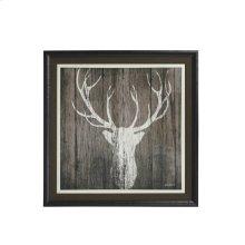 Sophisticated Deer Textured Print Custom Framed