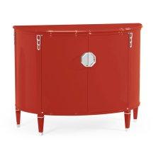 Demilune Vermillion Red Storage Cabinet