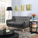 Remark Upholstered Fabric Loveseat in Gray Product Image