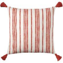 Grain Sack Pillow, RED, 16X26
