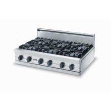 """Eggplant 36"""" Sealed Burner Rangetop - VGRT (36"""" wide rangetop four burners, 12"""" wide griddle/simmer plate)"""