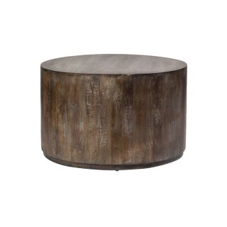 Mango Wood Drum Coffee Table