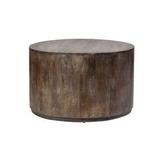Mango Wood Drum Coffee Table