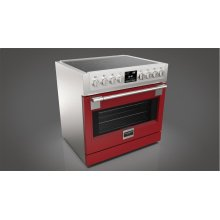 "36"" INDUCTION PRO RANGE - GLOSSY RED"