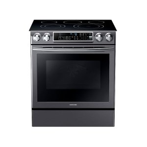 5.8 cu. ft. Slide-in Electric Range with Dual Convection in Black Stainless Steel Product Image