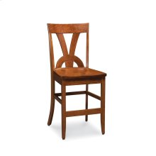 Adeline II Stationary Barstool, Fabric Cushion Seat
