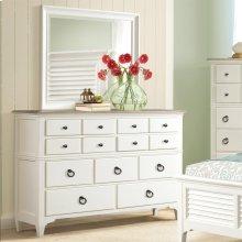 Myra - Nine Drawer Dresser - Natural/paperwhite Finish