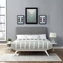 Tracy 3 Piece King Bedroom Set in White Gray