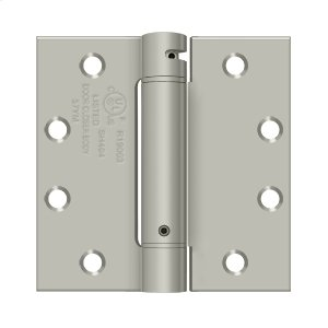 "4 1/2""x 4 1/2"" Spring Hinge, UL Listed - Brushed Nickel Product Image"
