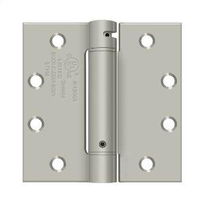 "4 1/2""x 4 1/2"" Spring Hinge, UL Listed - Brushed Nickel Product Image"