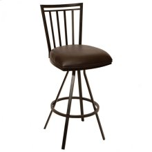 "Aidan 30"" Transitional Barstool In Coffee and Auburn Bay"