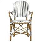 Hooper Indoor - Outdoor Stacking Armchair - Black&white Product Image