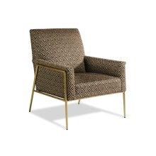 Rice Aged Brass Chair