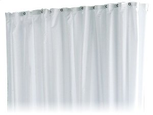 Shower curtain PLAN stripes - truffle/white/8 eyelets Product Image