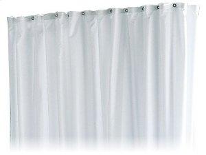 Shower curtain PLAN stripes - truffle/white/8 eyelets Product Image