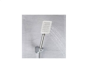 Square Stainless Steel Bent Hand Shower - Brushed Nickel Product Image
