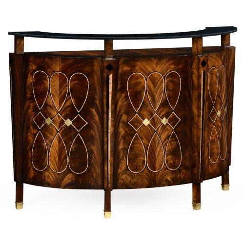 Brown Mahogany Registration Desk (Small)