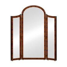 Art Deco style full length triple dressing mirror (Satin)