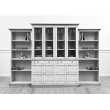 4 Piece Full Wall Unit, Unfinished
