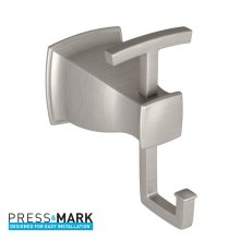 Hensley brushed nickel double robe hook