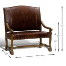 Italian Leather Settee Product Image