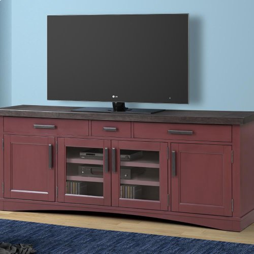 AMERICANA MODERN - CRANBERRY 76 in. TV Console