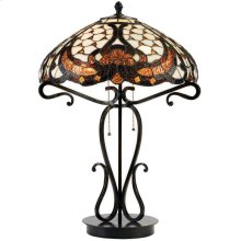 Table Lamp - Dark Bronze/tiffany Shade, Type A 40wx2