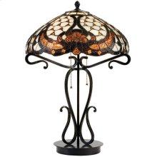 Table Lamp - Dark Bronze/tiffany Shade, Type A 40wx2