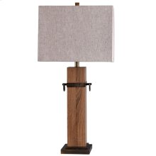 Cordia Worldly Wood and Metal Accent Table Lamp 100 Watts 3-Way