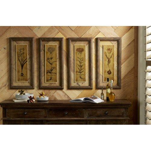 Cassander Double Glass Print Wall Art - Set of 4