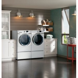 Energy Star 5.0 cu.ft. capacity stainless steel drum frontload washer