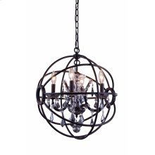 Geneva 4 light Dark Bronze Pendant Silver Shade (Grey) Royal Cut crystal