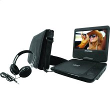 """9"""" Swivel-Screen Portable DVD Player with Carry Bag & Headphones"""