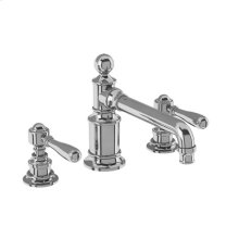 Arcade Widespread Basin Faucet with Metal Lever Handles - Polished Chrome