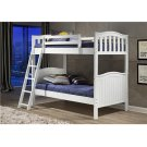 Pine Ridge White Distressed Bunk Bed with options: White, Twin over Twin Product Image