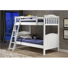 Pine Ridge White Distressed Bunk Bed with options: White, Twin over Twin