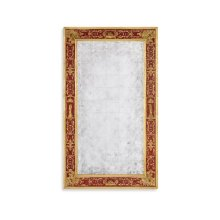 Rectangular glomise Mirror with Gilt Renaissance Decoration (Red)