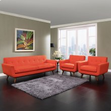 Engage Armchairs and Sofa Set of 3 in Atomic Red