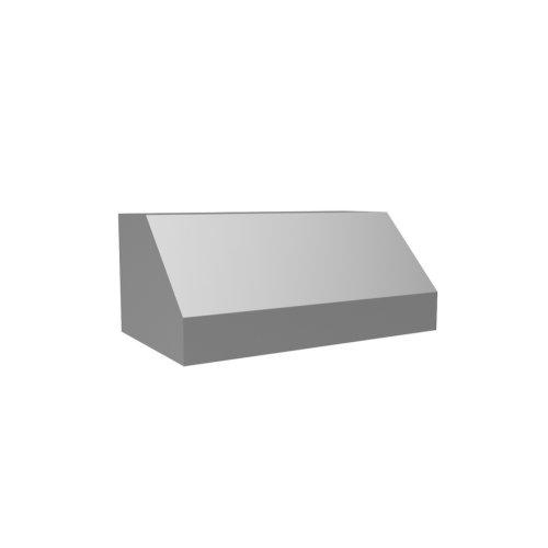 "30"" 600 CFM Standard Wall Mount Range Hood Stainless Steel Back Vented"