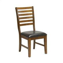 ST.MICHAEL Ladder Back Side Chair W/vinyl Seat