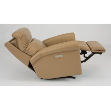 Davis Leather Power Rocking Recliner with Power Headrest
