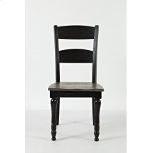 Madison County Ladderback Dining Chair (2/ctn) - Vintage Black
