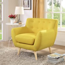 Remark Upholstered Fabric Armchair in Sunny