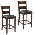 """Pendwood 2-Pack 24"""" Barstools with Upholstered Seat, Brown Cherry Product Image"""