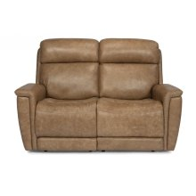 Sandlot Leather Power Reclining Loveseat with Power Headrests