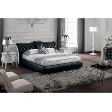 Modrest Modern Black Tufted Leatherette Bed