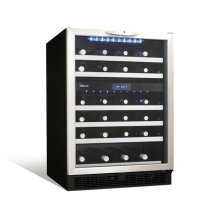 "Stilton 24"" dual zone wine cellar."