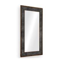 Faux Macassar Ebony & Anthracite Shagreen Floor Mirror
