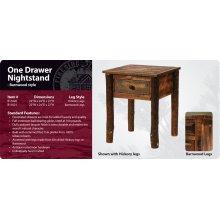 Barnwood One Drawer Nightstand