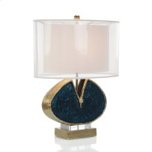 Blue Enameled and Jeweled Table Lamp
